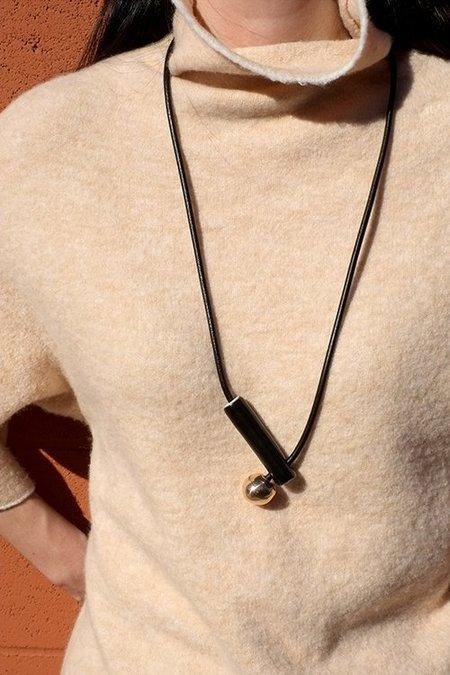 Jujumade Pipe Necklace - black
