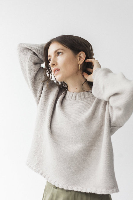 Bare Knitwear Square Crew SWEATER - Oatmeal