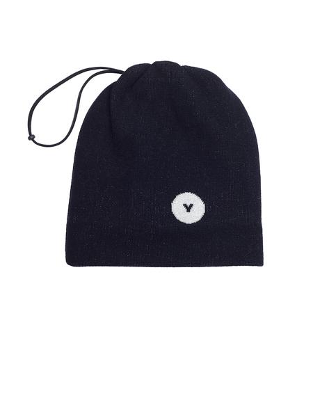 Ys Wool Drawstring Beanie - Black