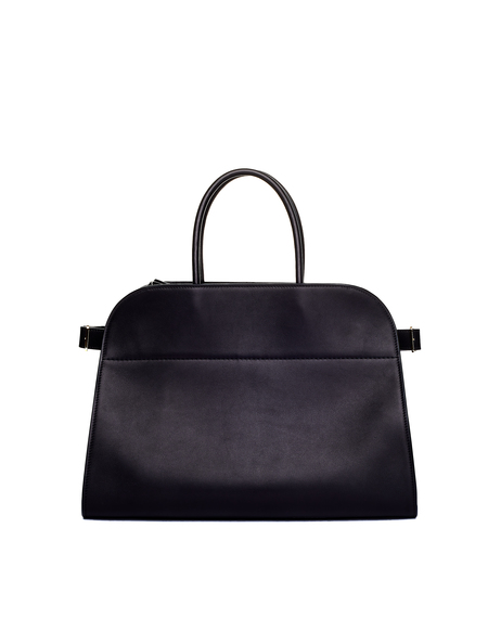 The Row Margaux Leather Bag - Black