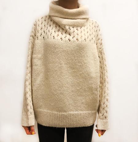 Wol Hide Lace turtleneck - White