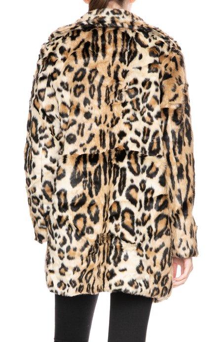 Apparis Margot Faux Fur Coat - Leopard Print