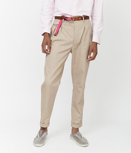 Unisex MAGILL Hepburn Pleated Trouser - Khaki
