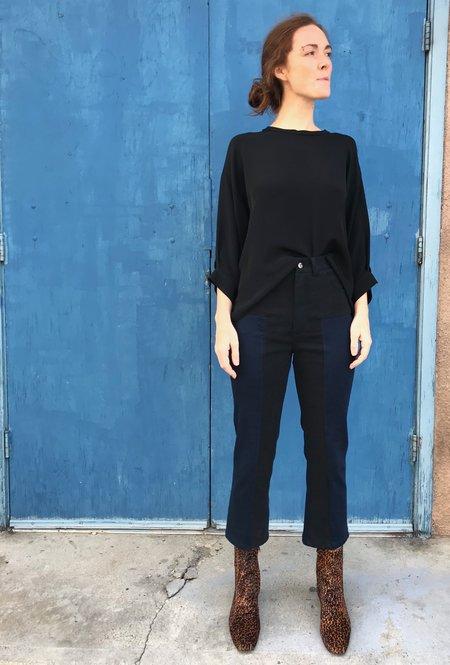 Rachel Comey Combo Bismark Stretch Denim Pant - Black-Indigo