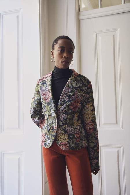 Bird On A Wire Vintage Tapestry Statement Jacket - floral