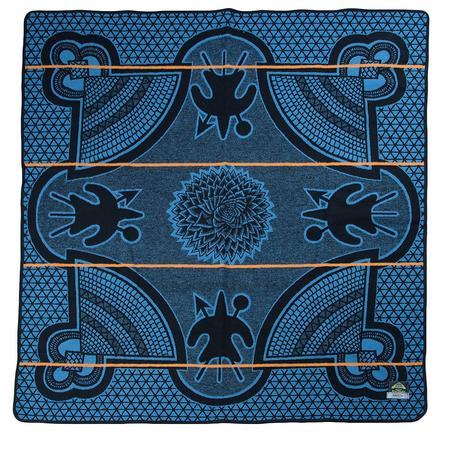 Aranda Textile Mills Peacock Kharetsa Spiral Aloe Basotho Heritage Blanket