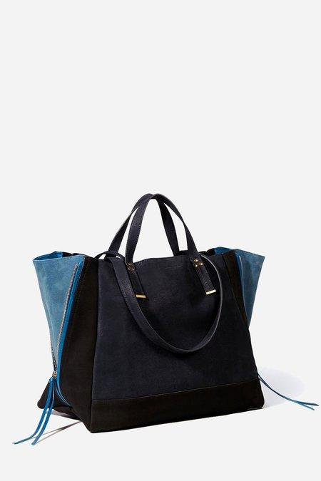 Jerome Dreyfuss Georges Large Shoulder Bag - Caviar Bleu