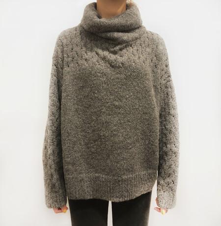Wol Hide Lace turtleneck - Charcoal