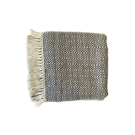Lula Mena Small Throw Shawl - Charcoal Gray