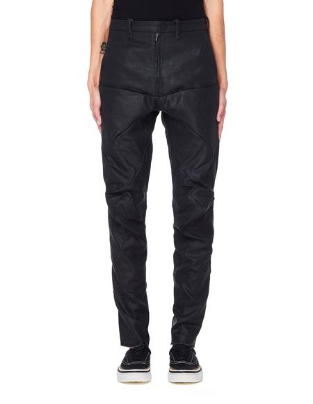 Leon Emanuel Blanck Gunmetal Grey Linen Pants - Black