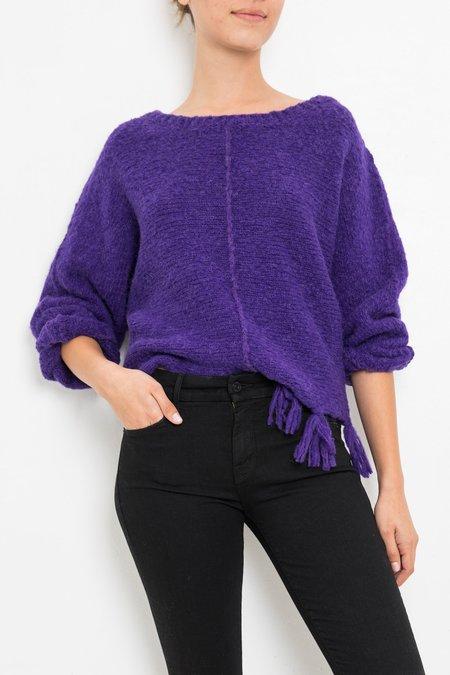 Giada Forte Mixed Alpaca Round Neck Sweater -