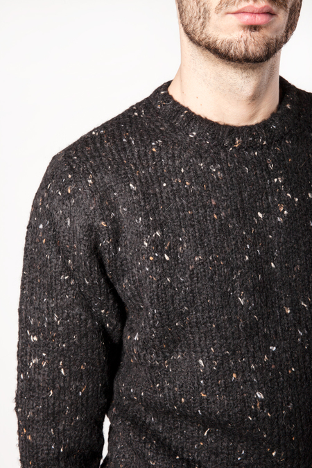 Wool&Co Neps Quality Sweater - Black