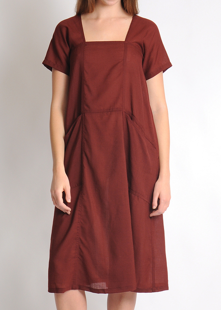 Gravel & Gold Fielder Dress - Garnet