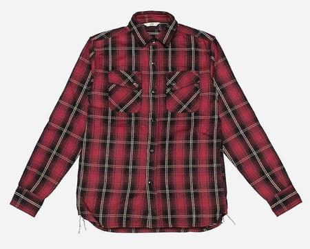 3Sixteen Crosscut Flannel - Red Plaid