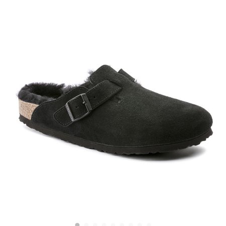BIRKENSTOCK Shearling Lined Boston - Black