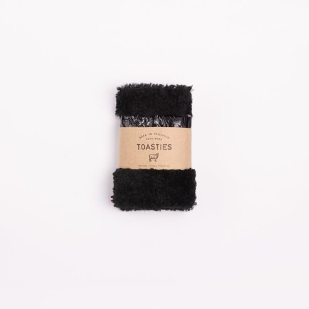 Toasties Fingerless Mittens - Metallic Black
