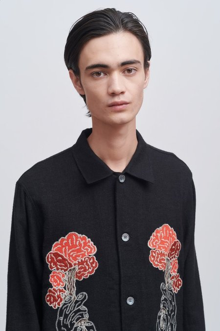 Our Legacy Tree Embroidery Box Shirt - Black