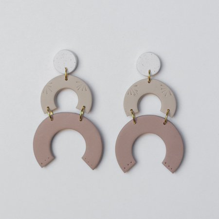 Sigfús Blossom Earrings - Neutral Gradient