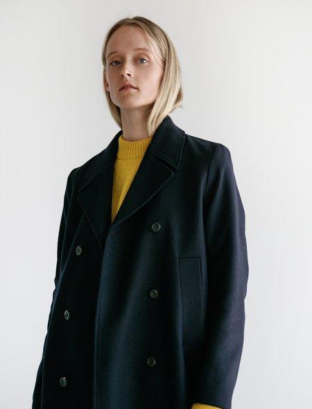 Norse Projects Birna Wool Coat - Dark Navy