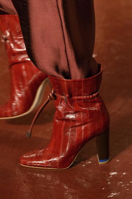 Malone Souliers x Roksanda Dolly Boots - Burgundy