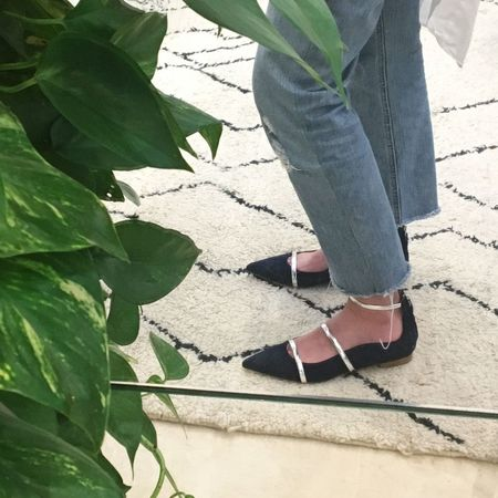 Malone Souliers Robyn Suede Ballerinas - Navy