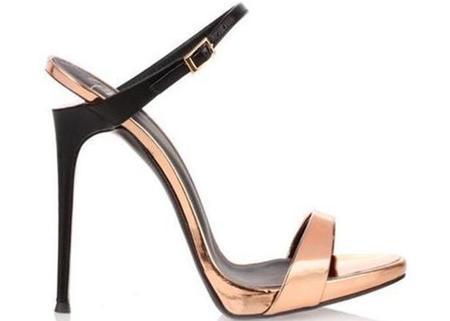 Giuseppe Zanotti Metallic Sandal - Rose Gold