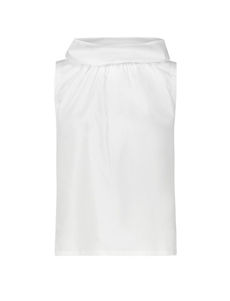 Pause. Brooklyn Sleeveless Paperbag Top - white
