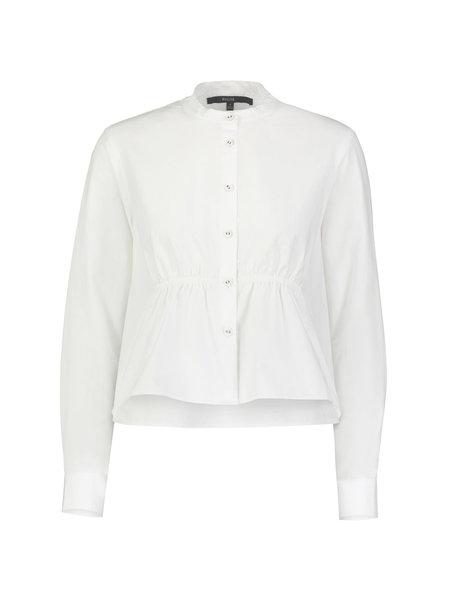 Pause. Albany Cropped Smocked Shirt - white