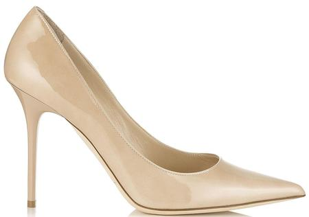 JIMMY CHOO Abel Patent Leather Pointy Toe Pumps - Nude