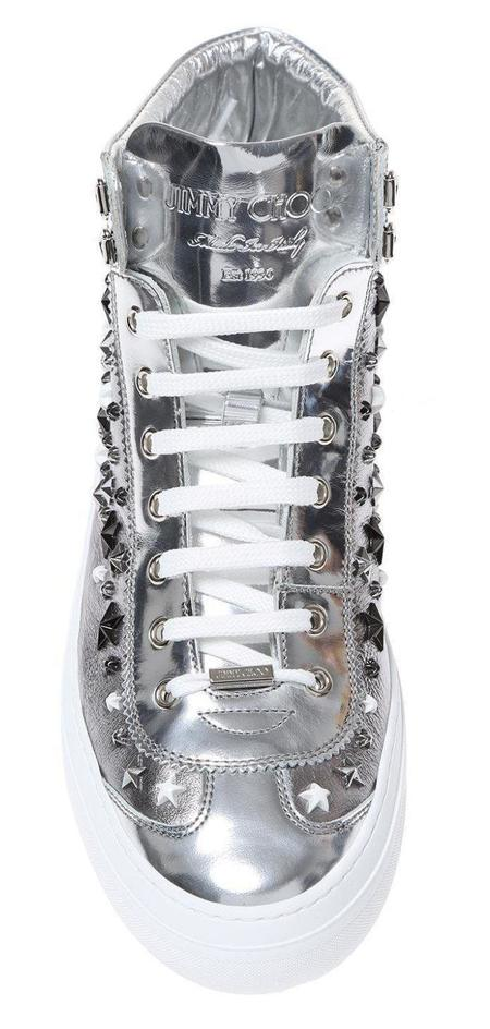 Jimmy Choo Argyle High Top Sneakers - Silver