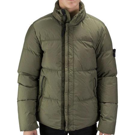 Stone Island Garment Dyed Crinkle Reps NY Down Jacket - Olive