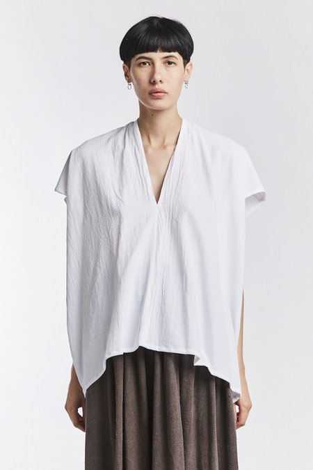 Miranda Bennett Textured Cotton Everyday Top - White