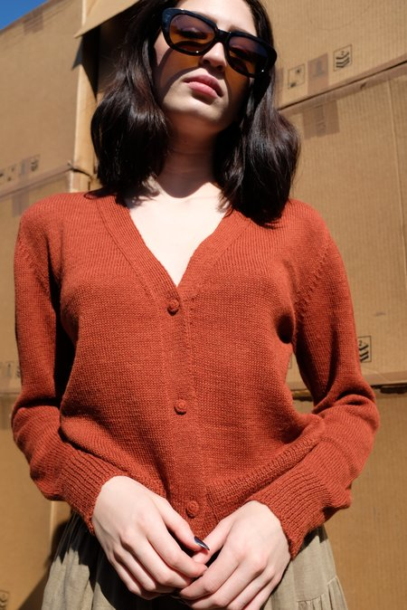 Beklina Alpaca Cardigan Sweater - Wet Clay