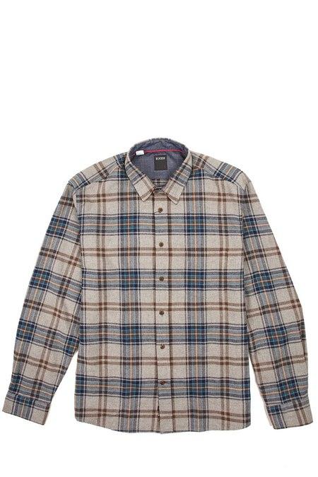 Benson Cotton LS Plaid Woven - Grey/Brown