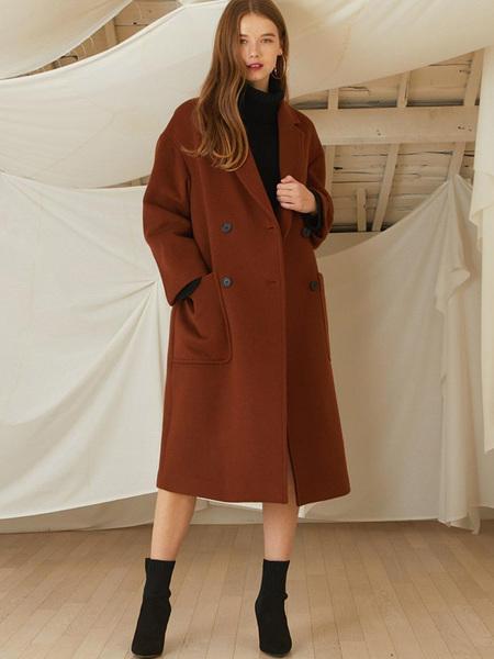 LOOKAST Premium Long Double Coat - Brown