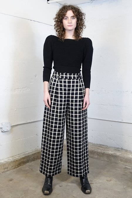 Mara Hoffman Amani Pant - Windowpane Plaid