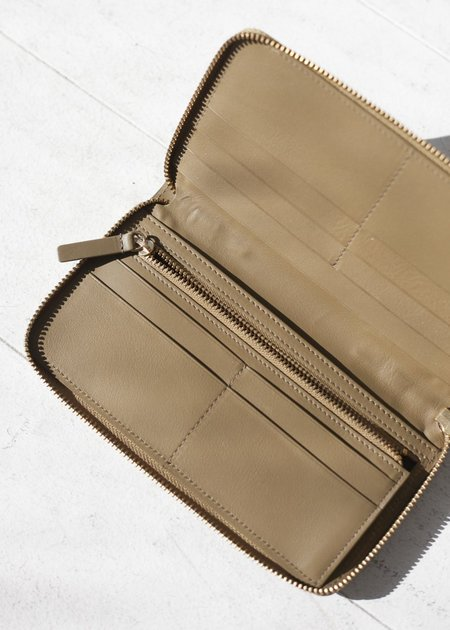 The Stowe Zip Wallet - Olive Nappa