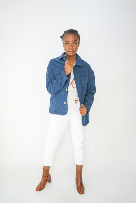 Paloma Wool Lario Wool Jacket - Deep Blue