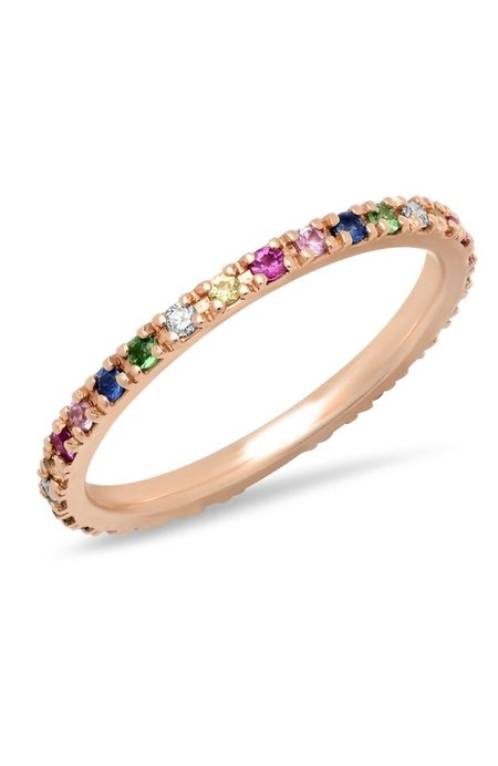 Shain Leyton Rainbow Eternity Band - 14K Gold