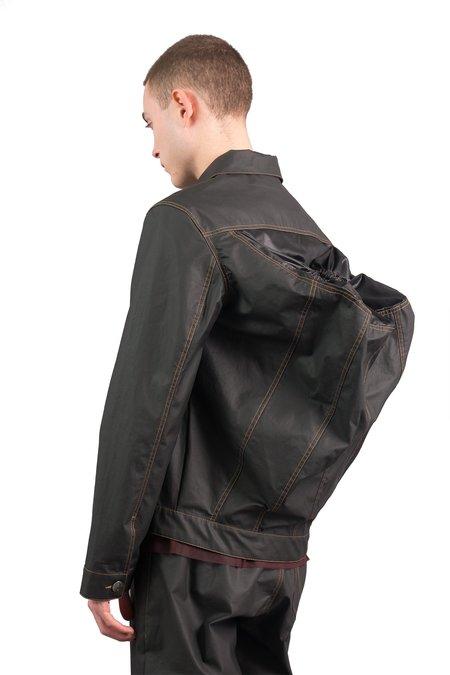 Julian Zigerli Rubber Backpack Jacket - Black