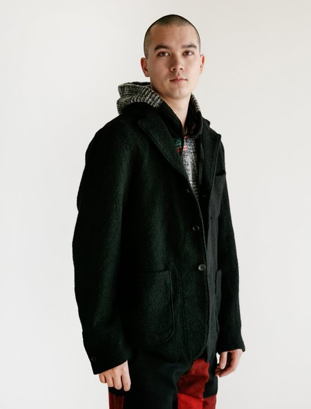 Engineered Garments Boiled Wool Knit Jacket - Black