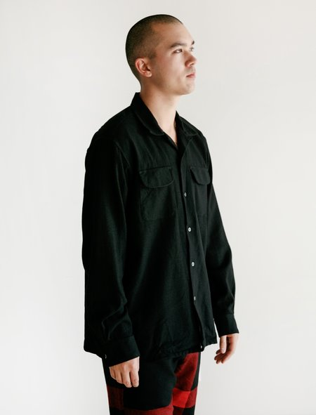 Engineered Garments Worsted Wool Classic Shirt - Black