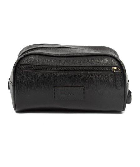 Barbour Accessories Leather Wash Bag - Black