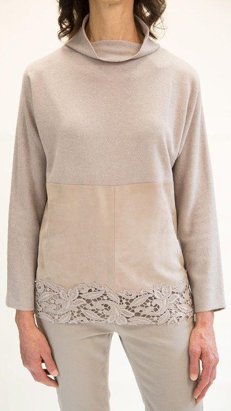 Fabiana Filippi Floral Detail Cashmere Blend Sweater - Neutrals
