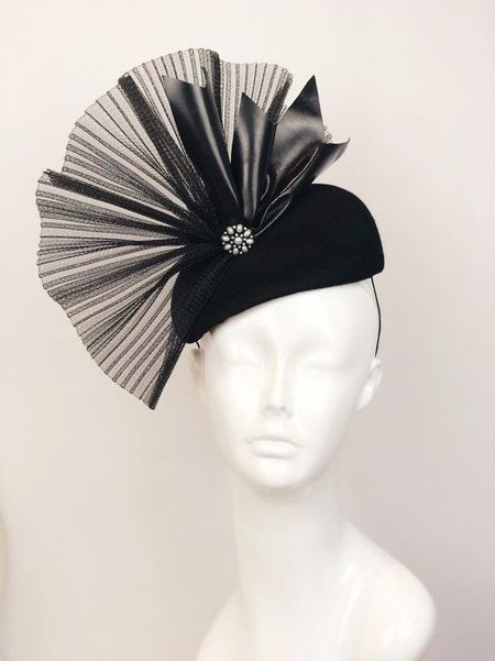 Patricia Melican Millinery The Raven Fascinator - Black