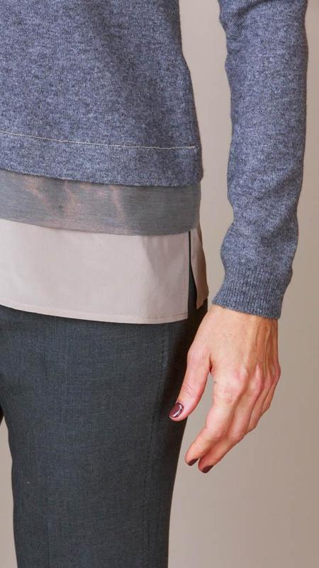 Peserico Layer Detail Sweater - Grey