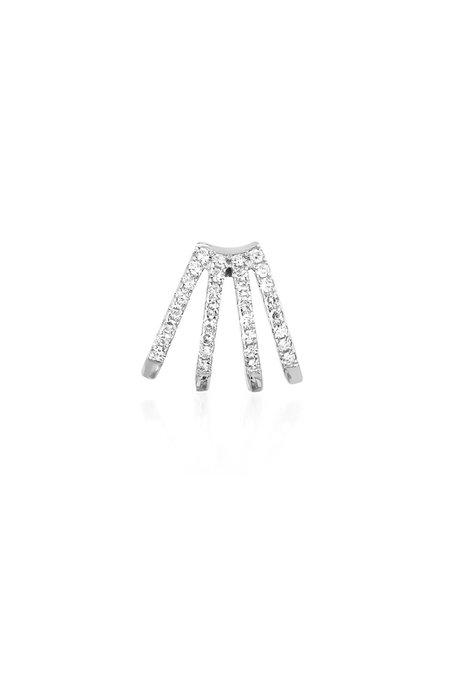EF Collection Diamond Multi Huggie Earring
