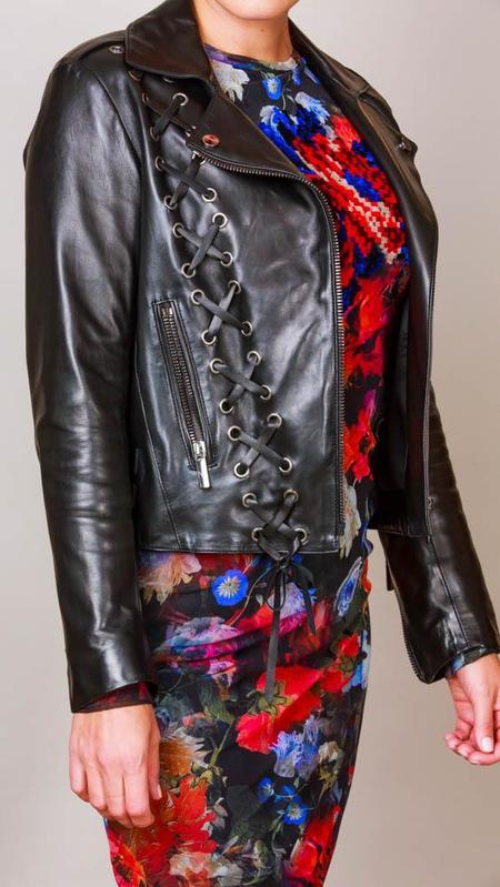 Nour Hammour Leather Moto Jacket