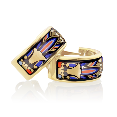 FreyWille Pharaoh Egypt Earrings Mini-Creoles - Tutanchamun