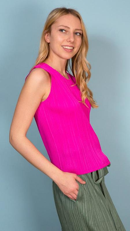 Issey Miyake Pleats Please Basics Tank - Hot Pink